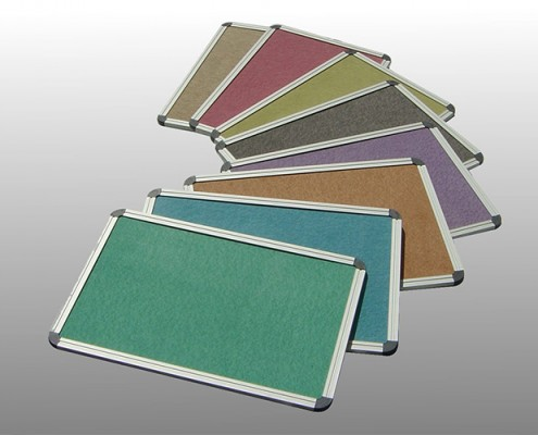 Pinboards in Anodized Frame