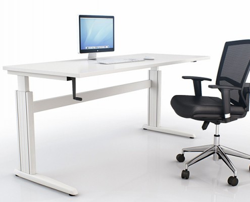 Trilogy Winder Adjust Desk Frame - Sit Stand